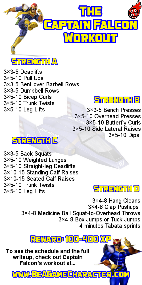 The Captain Falcon Workout